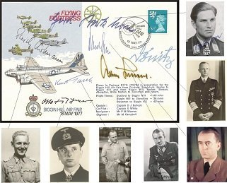 Top German WW2 VIPs signed Flying Fortress FDC signed