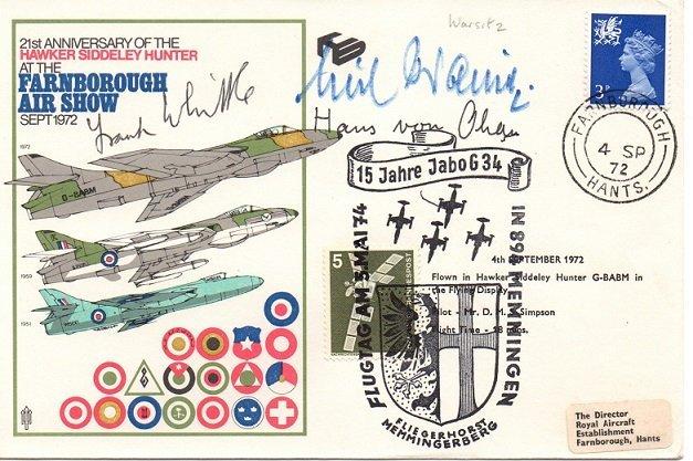 Sir Frank Whittle & Hans O'Hain Farnborough Air Show