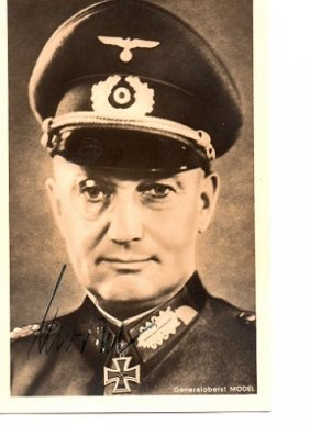 General Model signed 14 x 9 cm Hoffmann photo signed by