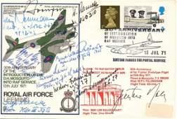 10 Luftwaffe KC Aces: signed RAF Leeming FDC Gunter