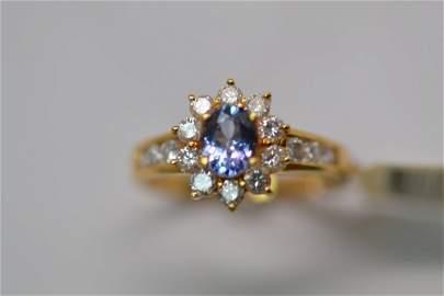 146: 18K Gold Tanzanite Ring