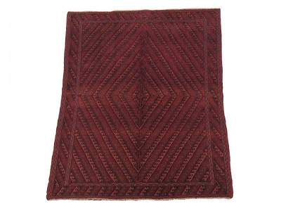 Vintage 5X7 Tribal Afghan Hand-Knotted Wool Rug Carpet