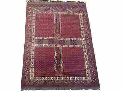 Vintage 6X8 Tribal Turkoman Khal Mohmadi Wool Area Rug