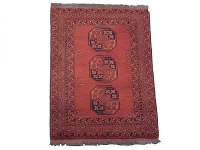 Fine 3X4 Turkoman Tribal Khal Mohmadi 1970's Wool Rug