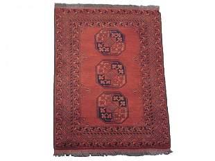 Fine 3X4 Turkoman Tribal Khal Mohmadi 1970s Wool Rug