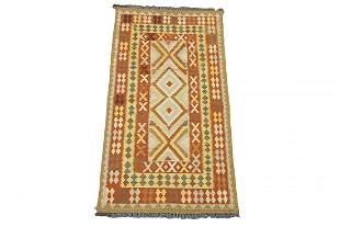 3X7 Afghan Chobi Kilim HandWoven Wool Area Rug Carpet