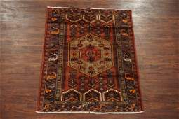 Antique 4X6 Persian Sarab Hand-Knotted Abrash Wool Rug