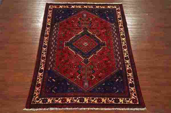 Vintage 7X10 Tribal Persian Hand-Knotted Wool Area Rug