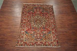 7X10 Antique Persian Bakhtiari Hand Knotted Wool Rug