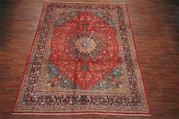 Antique 10X13 Tabriz Hand-Knotted Wool Area Rug