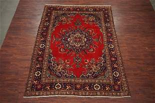 8X11 Tabriz HandKnotted Wool Area Rug