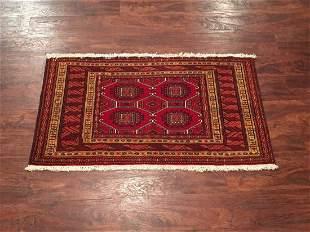 2X4 Fine Persian Bukhara Turkoman HandKnotted Wool Rug