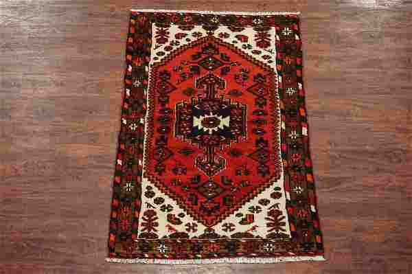 3X5 Persian Sarab Antique Hand-Knotted Abrash Wool Rug