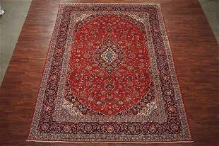 Fine 10X13 Kashan HandKnotted Signed Wool Area Rug