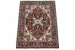4X6 Serapi Heriz HandKnotted Veg Dyed Wool Area Rug