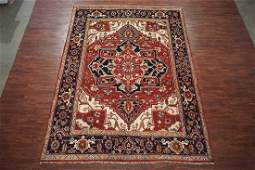 8X10 Veg' Dyed Serapi Hand-Knotted Wool Area Rug