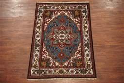 4X6 Heriz Serapi Hand-Knotted Wool Area Rug Carpet