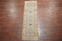 3X8 Oushak Wool Runner Hand-Knotted Vegetable Dyed Rug