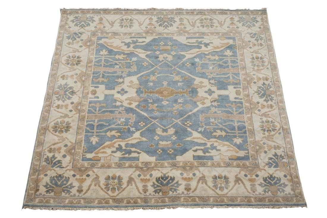8X8 Square Oushak Rug Vegetable Dyed Hand-Knotted Wool