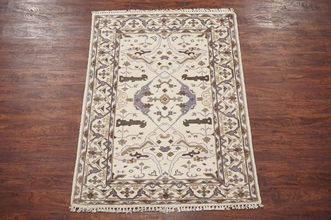 4X6 Oushak Vegetable Dyed & Hand-Knotted Wool Rug