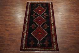 Vintage 5X10 Persian Sarab Hand-Knotted Gallery Runner