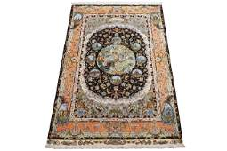Persian 7X10 Extra Fine Wool & Silk Tabrz Signed Rug