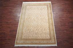 7X10 Signed Persian Kashan 100% Hand-Knotted Silk Area