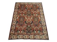Fine 7X10 Persian Tabriz Hand-Knotted Wool Area Rug