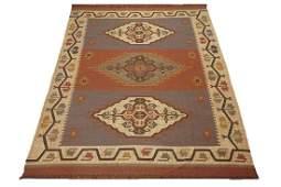 9X12 Kilim Area Rug Hand-Woven & Veg' Dyed Jute Carpet