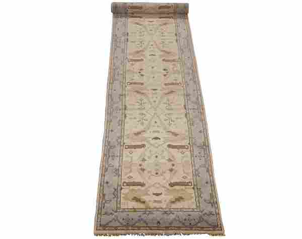 4X20 Oushak Gallery Runner Hand Knotted & Veg Dyed Area