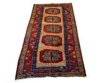 Vintage 4X8 Persian Sarab Hand-Knotted Abrash Wool Rug