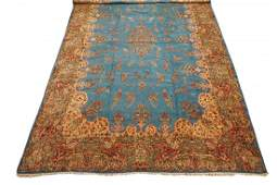 Antique 14X21 Fine Persan Kerman Hand-Knotted Wool Rug