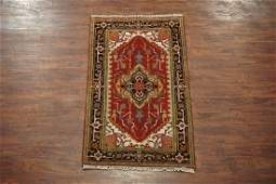 Veg' Dyed 3X5 Serapi Area Rug Hand-Knotted Wool Carpet