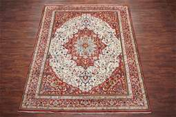 Vintage 9X12 Persian Tabriz Hand-Knotted Wool Area Rug