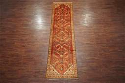 Antique 3X13 Persian Mahal Hand-Knotted Runner Wool Rug