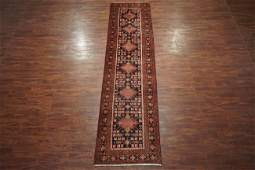 Antique 3X14 Persian Sarab Runner Hand-Knotted Wool Rug