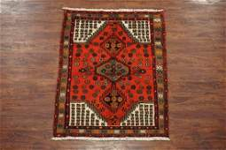 3X4 Antique Persian Sarab Karajeh Hand-Knotted Wool Rug