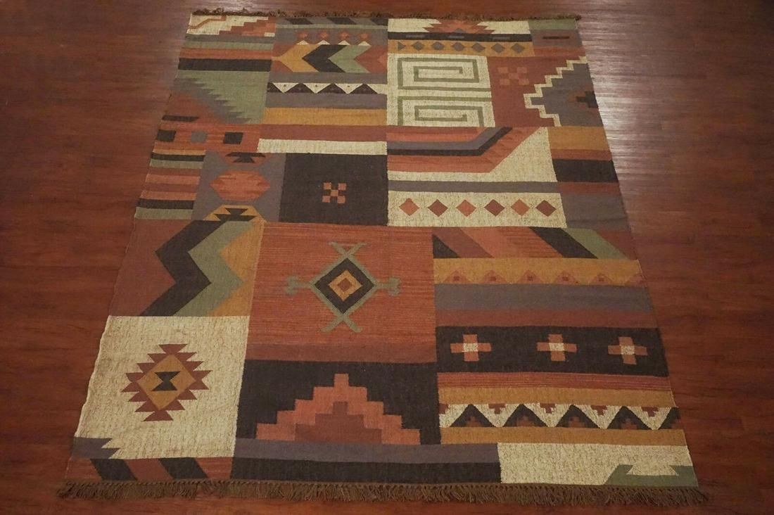 10X12 Patchwork Kilim Rug Hand-Woven & Vegetable Dyed
