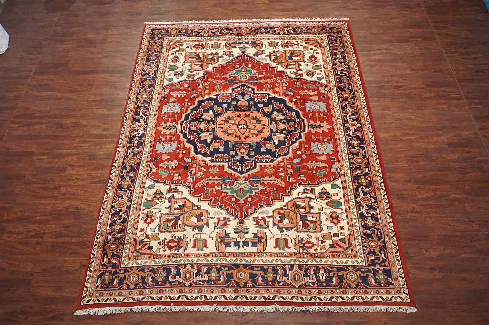 Vintage 10X13 Persian Heriz Area Rug Hand-Knotted