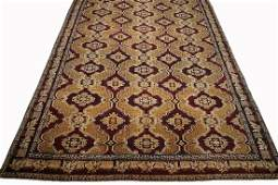 Antique 17X34 Indian Oversize Agra Rug Hand-Knotted