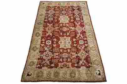 Antique 9X16 Indian Agra Rug Hand-Knotted Wool Carpet