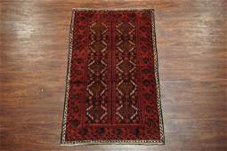 Vintage 3X6 Persian Baluchi Area Rug HandKnotted Wool