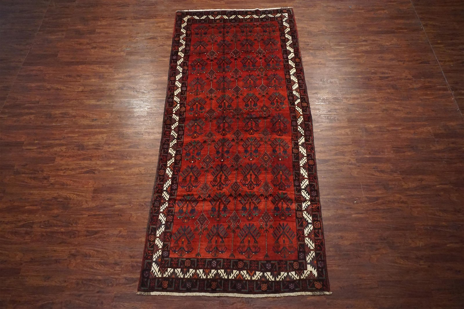 Antique 6X13 Persian Kurdish Gallery Runner Abrash Wool