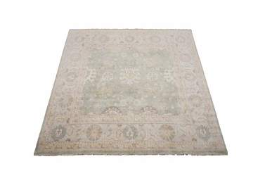 9X9 Square Oushak Hand-Knotted & Veg Dyed Wool Rug