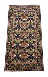 9X18 William Morris Hand-Knotted Area Rug