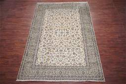 Vintage 9X13 Persian Signed Kashan Abrash Wool Rug