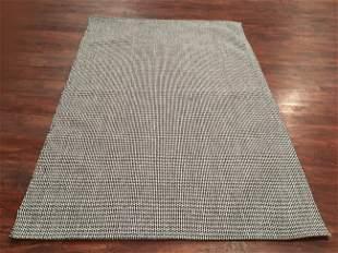 5X8 Modern Handmade Flat-Weave Wool Area Rug