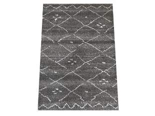 2X3 Modern Charcoal Moroccan HandKnotted Wool Area Rug