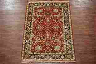 4X6 Mahal HandKnotted Vegetable Dyed Wool Area Rug