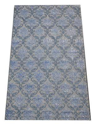 5X8 Modern High Low Area Rug HandKnotted Wool Carpet
